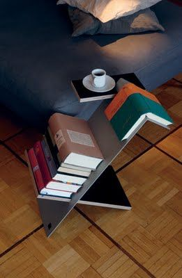 bedside table for books