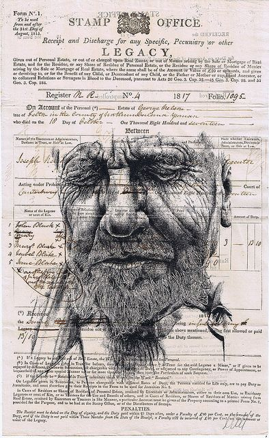 mark powell bic biro drawings
