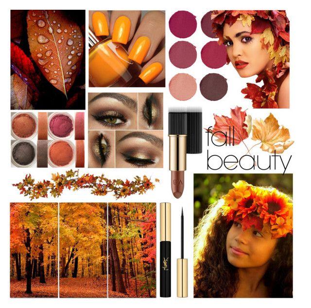 """fall beauty🍁"" by flie9enpilz on Polyvore featuring beauty, Pat McGrath, Estée Lauder, Improvements, Floss Gloss and Yves Saint Laurent"