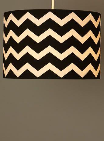 black chevron lamp shade