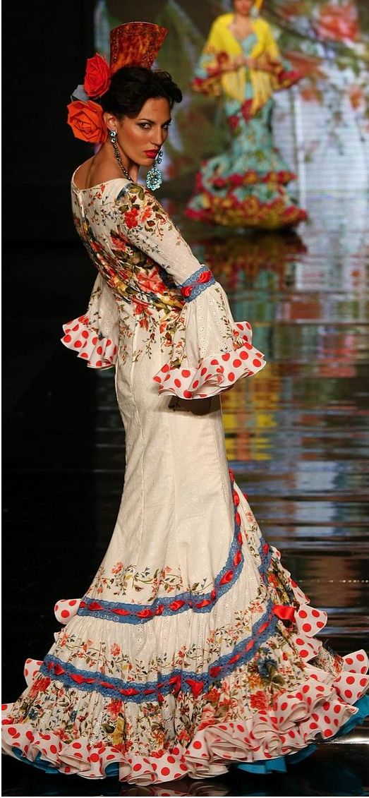 This is very pretty: I like the mix of floral & polka dots and the uneven flounce.