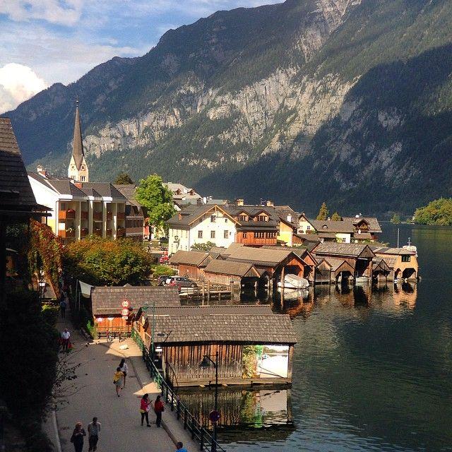 Sunny day in Hallstatt, Austria. Photo courtesy of ginabang on Instagram.