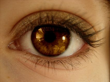 brown eyes- my daughter and husband have the most beautiful brown eyes I've EVER seen!