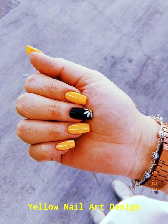 70+ am besten ausgewählte wunderschöne gelbe Nägel Design für…
