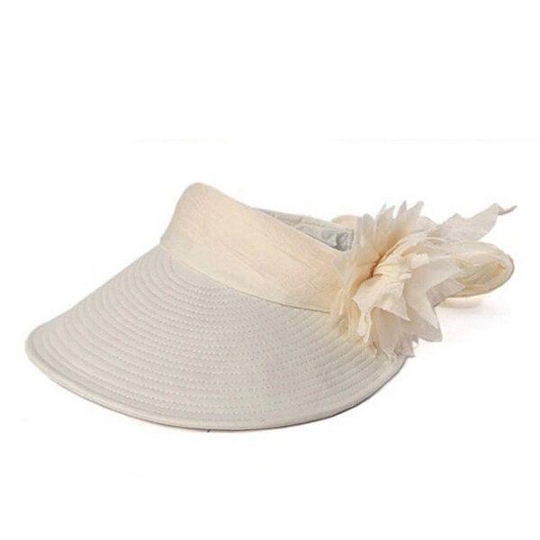 Women Ladies Summer Outdoor Wave Anti-ultraviolet Beach Sunscreen Sun Hat Flower Folding Cap