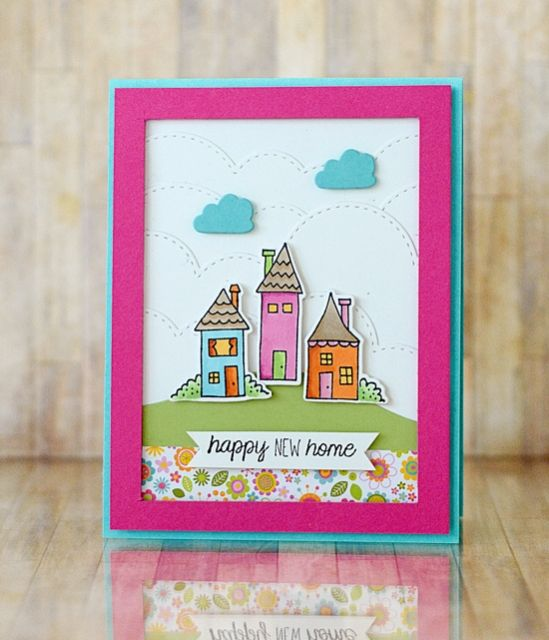 Creative Card Making Ideas Home Part - 40: Happy New Home Card By Taylor VanBruggen #Cardmaking, #HomeSweetHome,  #NewHome,