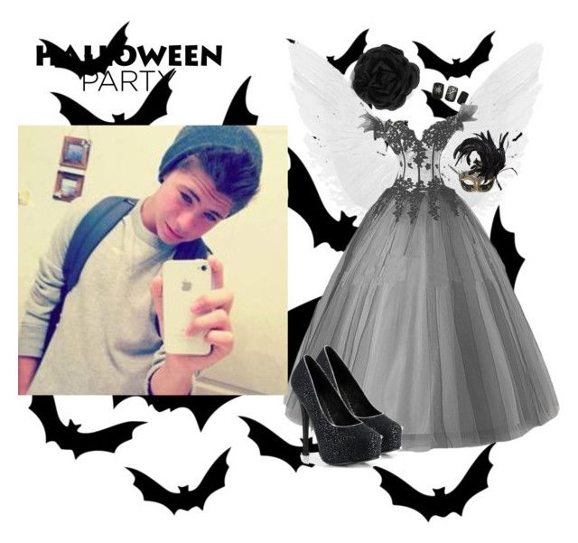 """""""Halloween date with him"""" by caniff-is-bae15 ❤ liked on Polyvore featuring Accessorize and Masquerade"""