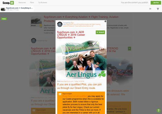 flygcforum.com ✈ AER LINGUS ✈ 2016 Career Opportunities ✈  http://shrs.it/196hi