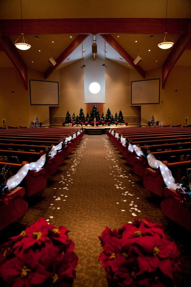 25 best ideas about small church weddings on pinterest for Christmas church decoration ideas
