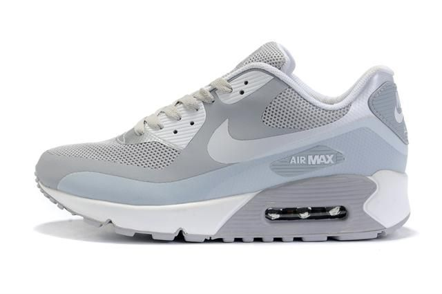 Only$70.35 NIKE AIR MAX 90 HYPERFUSE LIGHT GREY SILVER Free Shipping!