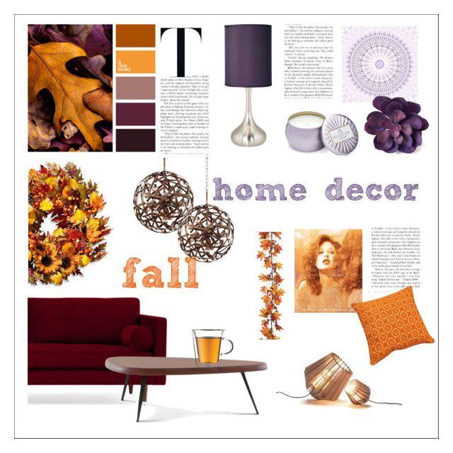 fall home decor by levai-magdolna on Polyvore featuring interior, interiors, interior design, home, home decor, interior decorating, Joybird, Cassina, Kalco and Possini Euro Design
