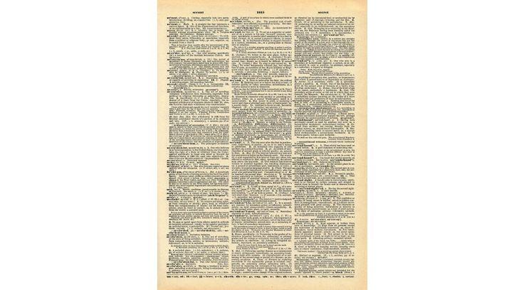 Mintás barkácsfilc - régi szótár - Szöveges minták - Gombolda Webáruház