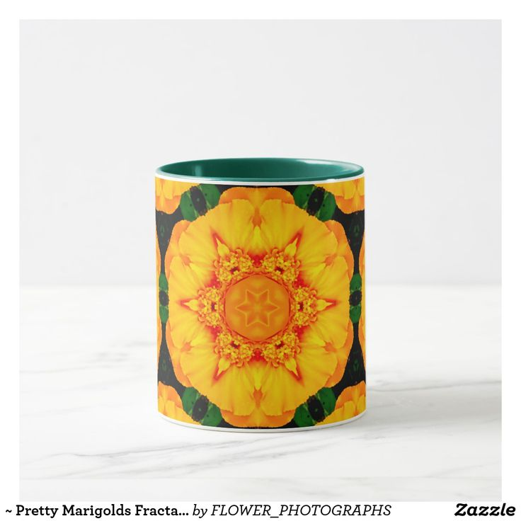 ~ Pretty Marigolds Fractal ~ Mug