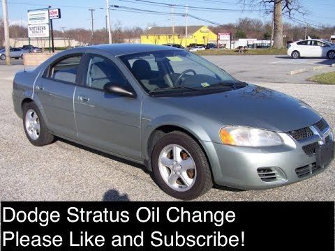 Dodge Stratus Oil Change in Saint Louis 63127 MO.  Dodge Stratus Oil Change Dodge Stratus Oil Change 2.4 Engine 2001- 2006 Chrysler Sebring Oil Change 2.4 We took this video to show you how to change the oil on a Dodge Stratus Second Generation sedan or Chrysler Sebring 2.4 Second generation...