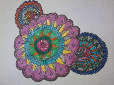 Mi Scrap: Mandala coloreado