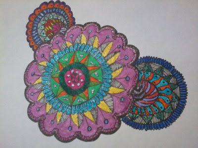 Mi Scrap: Mandala coloreado