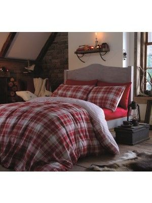 Tartan Red Brushed Cotton Flannelette Bedding Range - Bedding - Bed & Bath - Lifestylish.com | FREE UK Delivery on all orders!