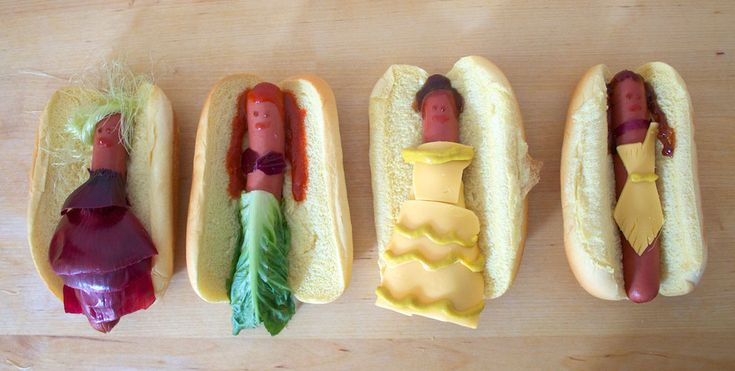 Gone too far? Disney princesses as... hotdogs