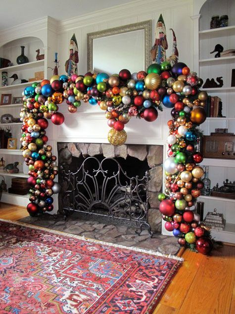 Christmas: Glasses Ornaments, Christmas Decoration, Fireplaces, Holidays, Christmas Idea, Garlands, Christmas Ornament, Mantles, Christmas Mantels