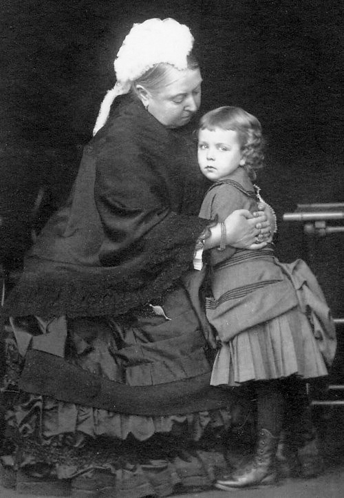 Queen Victoria with grand-daughter Princess Margaret of Connaught