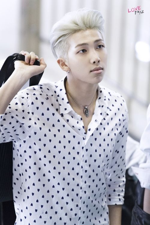 Rap Monster - ow he looks different from this angle! Whoot