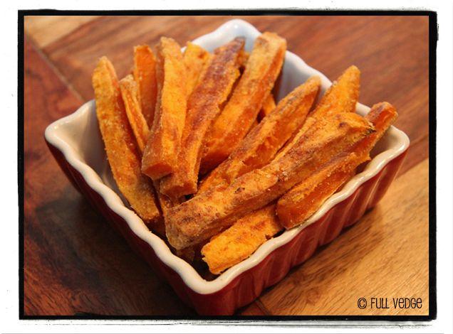 Frites de patates douces cuites au four | Full vedge - Recettes végétariennes et gourmandes!