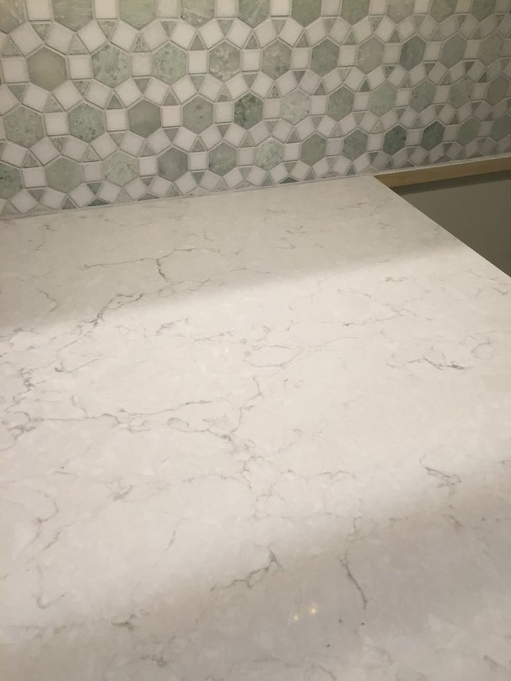 Snowy Ibiza Silestone countertop for our new kitchen!