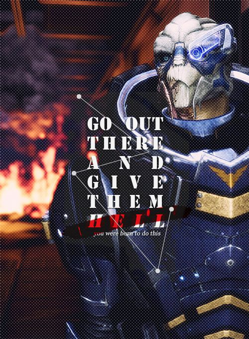"Garrus - Mass Effect ""Go out there and give them hell."""