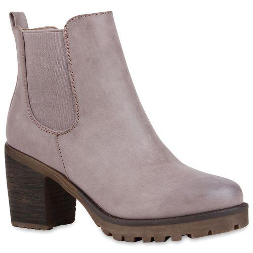 Aktuelle Damen Overknee Stiefel Schuhe High Heels 3857 Hellbraun 39