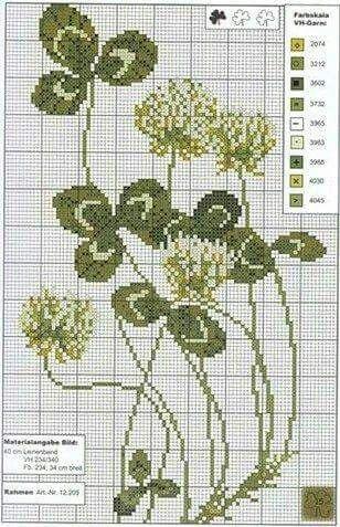 Cross stitch clovers