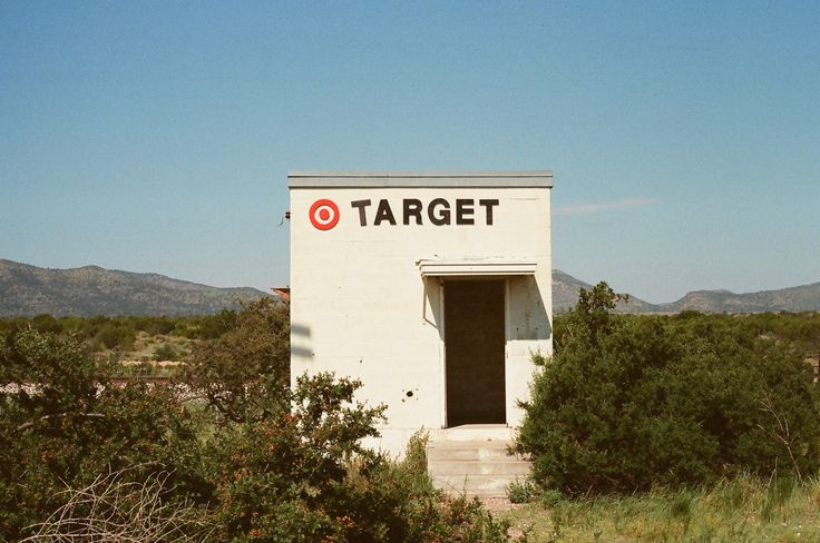 West Texas Target in Marathon, Texas. 35mm film photography from Kat Swansey -- katswansey.com.