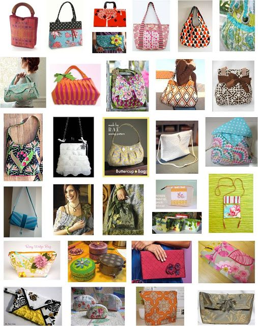 30 FREE patterns and instructions for purses, handbags, and zippered pouches!