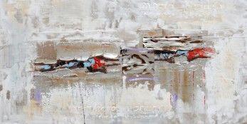 schilderij modern zilver 70x140