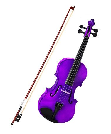 Always wanted to learn to play    Take a look at this Purple Full-Size Violin Set by New Dimensions on #zulily today!
