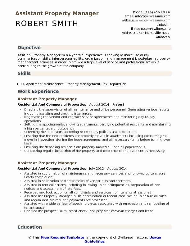 Assistant Property Manager Resume Luxury Assistant Property Manager Resume Samples Property Management Job Resume Samples Manager Resume