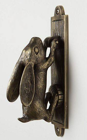 rabbit door knocker--must. have.