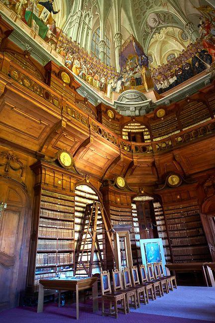 de prachtige bibliotheek in EKTF!