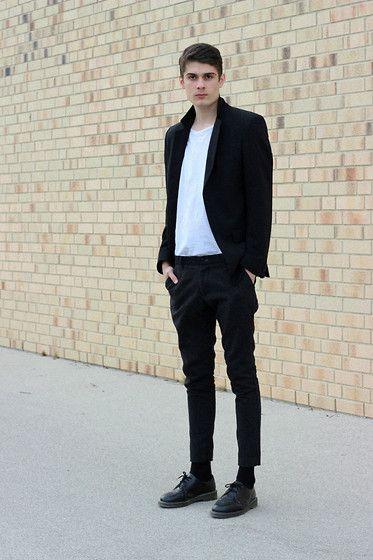 Dr. Martens Shoes, Weekday Shirt, J. Lindeberg Jacket