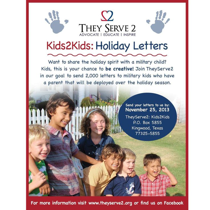 Share a letter with a military child on #GivingTuesday to say thank you