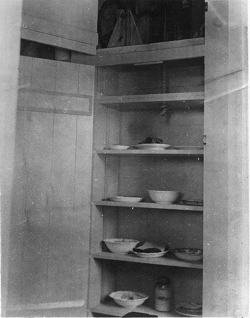 Dumb-waiter in home of Mrs. George Ferris, Five Corners, NY, in June 1913.