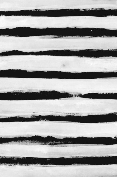 Black & White Stripes - brushstroke print; monochrome surface pattern design