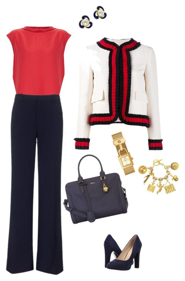 Elegant Chic Style Personality by kristi-gooden on Polyvore featuring Raoul, Gucci, Roland Mouret, Nine West, Alexander McQueen, Tory Burch and Chanel