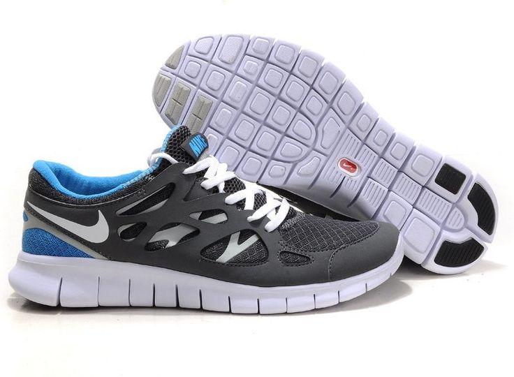 Mens Nike Free Run 5.0 Olympic Grey Blue Shoe Happy Shopping