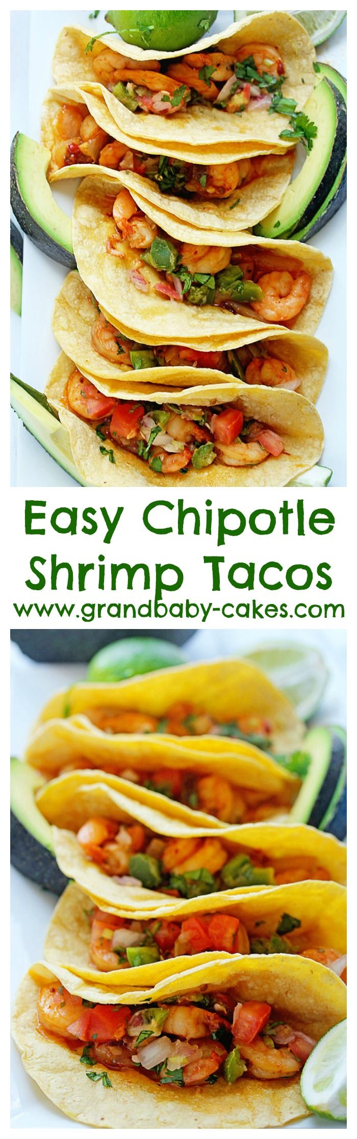 Easy Chipotle Shrimp Tacos  You won  39 t believe how fast this recipe is  And so delicious   spon  ziploc   http   www grandbaby cakes com
