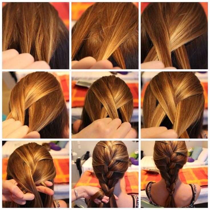 French braid step by step tutorial step 1 divide a piece