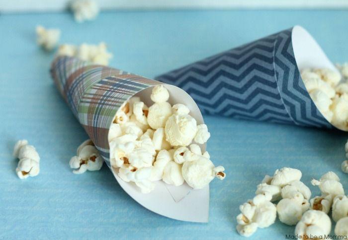 Popcorn Cone Horizontal