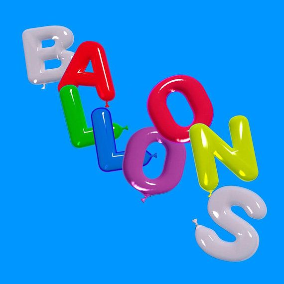 The set includes...  1 Large Multi colour balloon alphabet and numbers (roughly 26 x 42cm) Transparent PNG 1 Large Multi colour balloon alphabet and numbers JPEG 1 Small Multi colour balloon alphabet and numbers Transparent PNG 1 Small Multi colour balloon alphabet and numbers JPG   **PLEASE