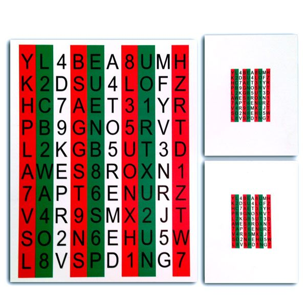 red and green vision therapy | Red/Green Hart Chart™ Accommodative Rock Chart Set