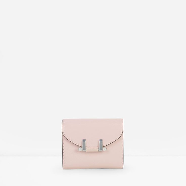 Pearl Detail Clasp Wallet | CHARLES & KEITH