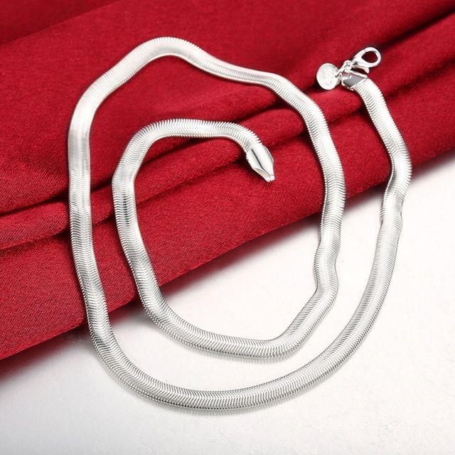 Мода 925 Серебряных Цепи Necklacs Для Мужчин Очарование 6 ММ Змея Цепи Ожерелье Мужские Ювелирные Изделия N193